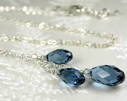necklace with drop pendant images Sapphire blue crystal necklace y drop pendant swarovski teardrop jpg