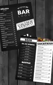 drink menu template free liquor menu template cocktail happy hour table tent happy hour