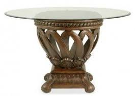 Pedestals For Glass Tables Round Glass Top Dining Table Wood Base Foter