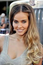 hair style for women with one side of head shaved long ombre hair flirty long waves with one side ombré isabel