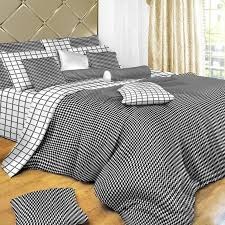 black and white check twin xl duvet cover set by dolce mela free