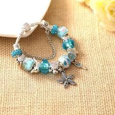 glass beads bracelet images Heart key tortoise blue crystal glass beads bracelets givena shop jpg