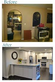 Remodeling Kitchen Cabinets On A Budget Kitchen Before And After Kitchen Remodel Kitchen Makeovers On A