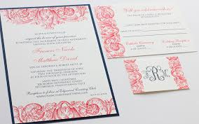 coral wedding invitations navy and coral wedding invitations plumegiant