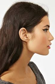ear cuffs on both ears 27 inspirational cartilage piercing and jewelry exles