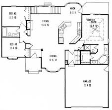split bedroom house plans plan 1533 3 split bedroom ranch w formal dining and stair