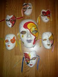 ceramic mardi gras masks ceramic mardi gras wall masks lot of 7
