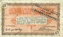 chambre de commerce alsace banknotes emergency notes alsace lorraine billets émis par