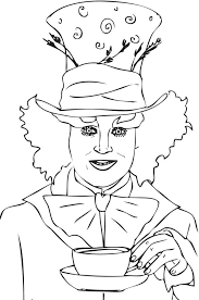 mad hatter coloring pages coloring