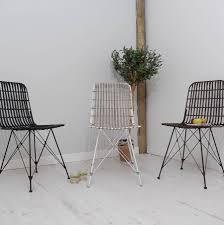 scandi chair rattan scandi style dining chair three colours by za za homes