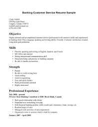 Cashier Resume Bank Customer Service Representative Resume Sample Resume For