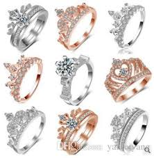 gold crown rings images Top quality s925 sterling silver rose gold crown ring for women jpg