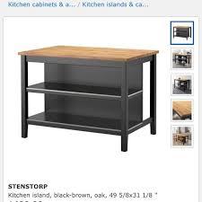 stenstorp kitchen island best stenstorp kitchen island black brown oak with 2 stools