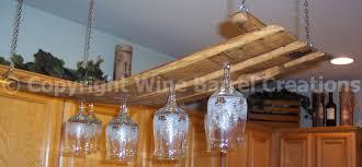 hanging glass rack stemware rack made from oak wine barrel