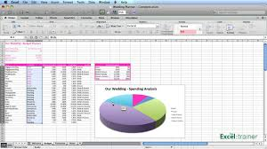Wedding Budget Spreadsheet Excel by Excel Creating A Wedding Planner Youtube