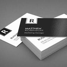 classy monogram modern black and white business card template