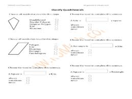 how to classify quadrilaterals 3rd grade worksheet lesson planet