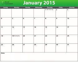 Excel Monthly Planner Template Editable Daily Calendar 2015 Calendar Examples