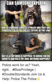 Law Dog Meme - can someone ekplain whyif someone shoots a police dog they are