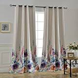 Curtains Floral Amazon Com Floral Draperies U0026 Curtains Window Treatments