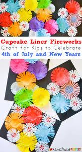 cupcake liner fireworks craft for kids make colorful fireworks