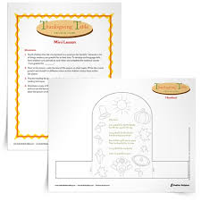 thanksgiving table prayer card activity for students
