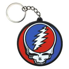 the grateful dead steal your face rubber keychain