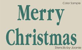 image gallery merry christmas word stencil