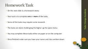 TudorGrangeAcademy Year   Homework Task One Compute   IT     SlideShare