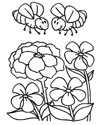 two bumblebees looking for honey coloring page download u0026 print