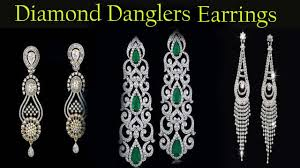 dangler earrings diamond danglers earrings designs today fashion