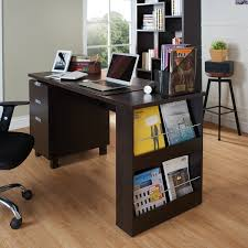 furniture of america tuston espresso office desk with built in