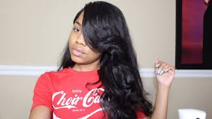 black hair swoop bang how to cut a poppin swoop bang yolissa hair body wave youtube