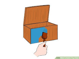 Build A Toy Box Out Of Pallets by How To Build A Toy Chest 14 Steps With Pictures Wikihow