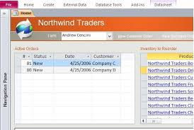 download northwind microsoft access templates and access database