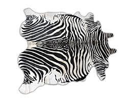 Genuine Zebra Rug Amazon Com Zebra Print Genuine Cowhide Area Rug Zebra Skin Throw