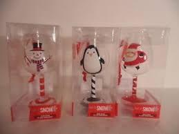 wine glass christmas ornaments mini wine glass christmas ornaments snowman santa penguin 4 set