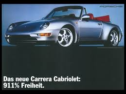 porsche poster porsche poster 911 type 993 cabriolet 1993 advertising reprint