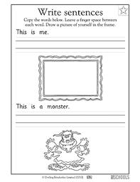 kindergarten preschool reading writing worksheets my first