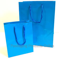blue gift bags paper gift bags glossy blue packaging products online