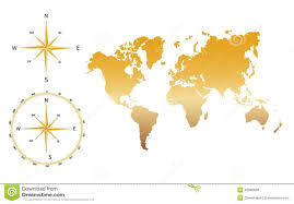 Vector World Map Vector World Map Gold Stock Illustration Image 45090666