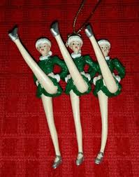 radio city rockettes 75th porcelain ornament