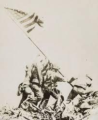 Holding The Flag Iwo Jima Rare Photo Of Us Marines Celebrating Just Moments After