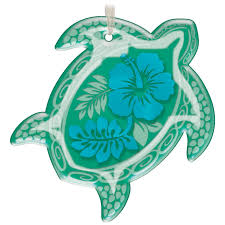 honu glass green sea turtle ornament keepsake ornaments hallmark