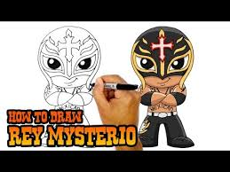how to draw rey mysterio chibi art lesson for kids
