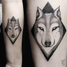 Forearm Wolf - mood dotwork wolf design on forearm