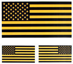 Us Flag Facts Black And Yellow Us American Flag Sticker Us Flag Stickers
