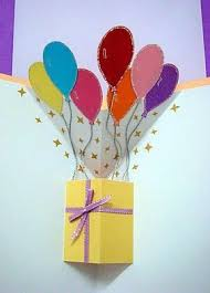 how to make handmade pop up birthday cards handmade greetings card pop up gift box and balloons