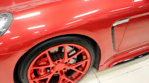 porsche panamera matte red gloss candy red porsche panamera turbo pur wheels by wrap workz