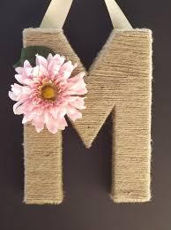 Letter Monogram Blooming Diy Monogram Letter Ideas